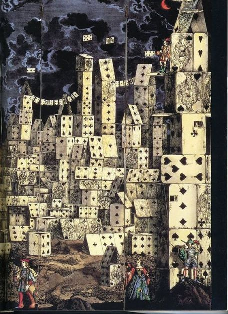 Piero Fornasetti City Of Cards 1955
