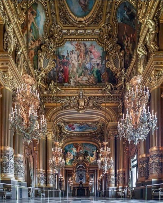 Interior of the Paris Opera House in Paris, France